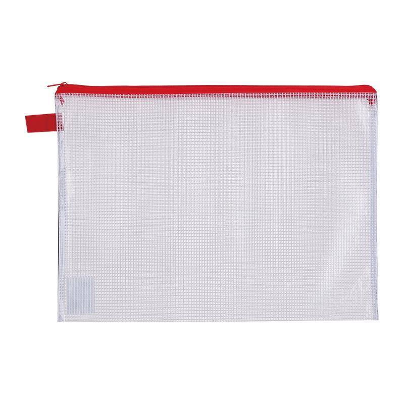 Deli Thick Mesh Zip Bag A4 E5596