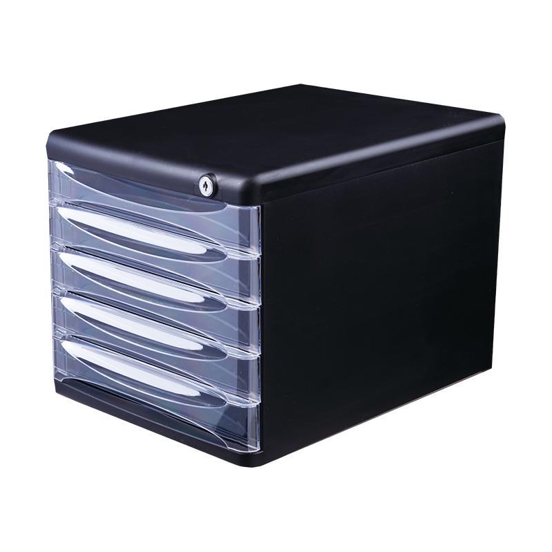Deli Plastic File Cabinet with Lock 5 Drawers E9795
