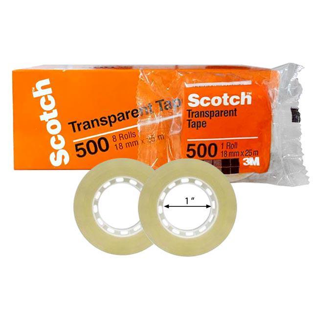 3M 500 Transparent Tape 12mm x 25M (1/2 Inch)