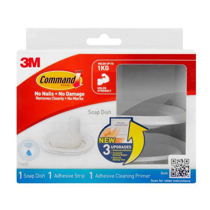 3M Bathroom Primer Soap Dish 17622D