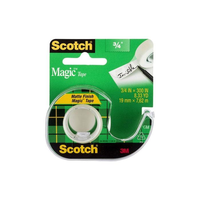3M Scotch Magic Tape with Dispenser 19mm x 7.62m 105