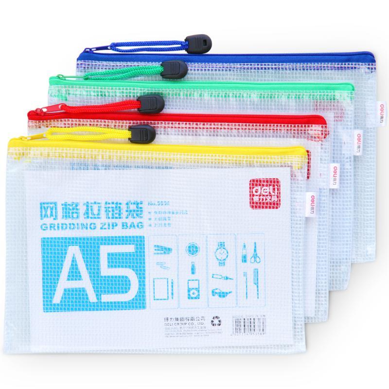 Deli Mesh Zip Bag A5 5656