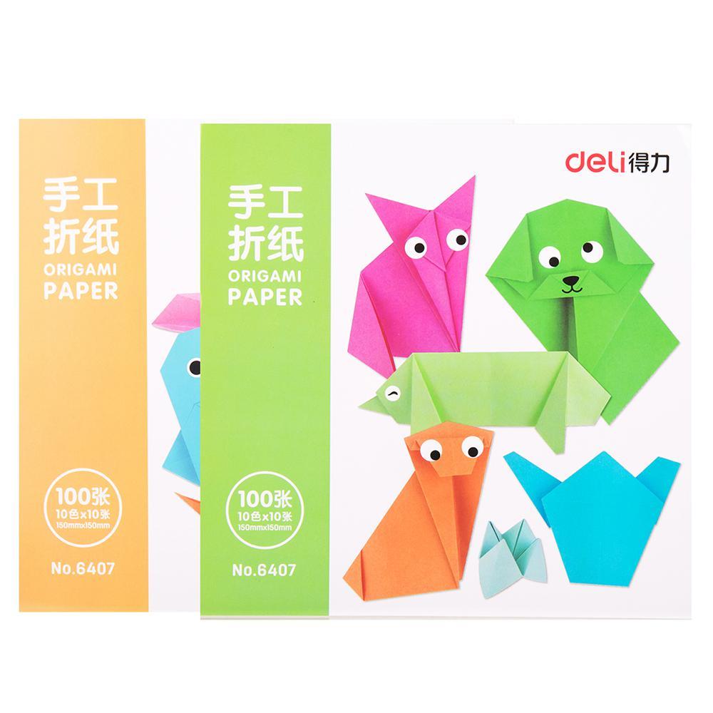 Deli Square Origami Colour Paper 15 x 15cm 6407