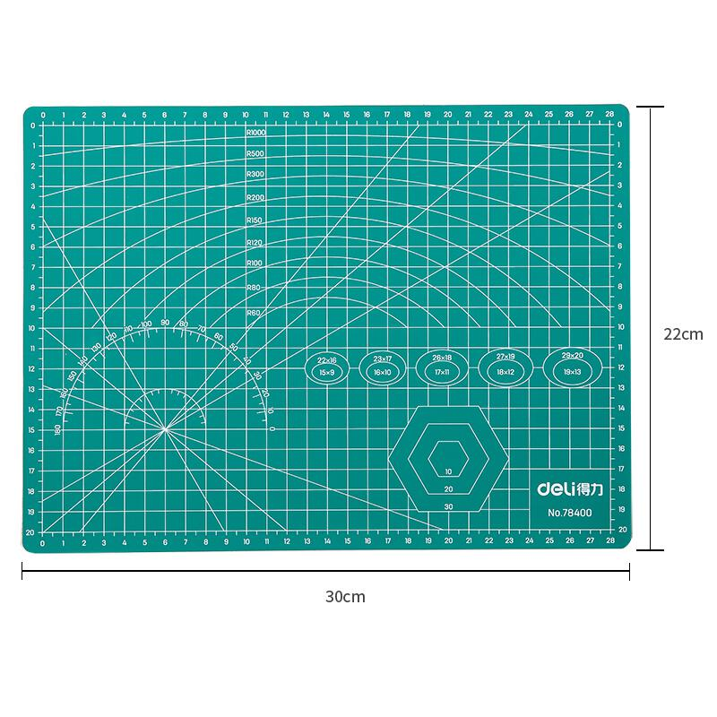 Deli Cutting Mat A4 305 x 225 x 3mm 78400