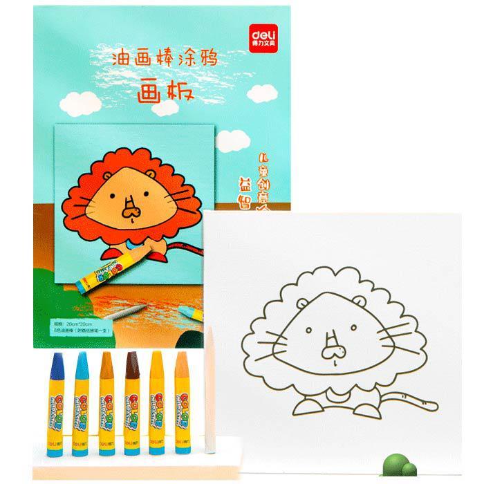 Deli Oil Pastel Drawing Board Set 739051