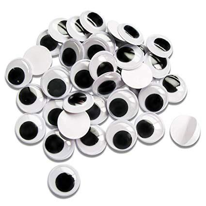 Plastic Googly Eyes 14mm Pack of 50