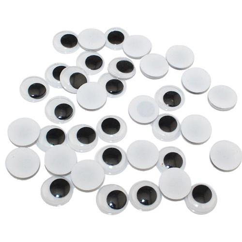 Plastic Googly Eyes 10mm Pack of 50