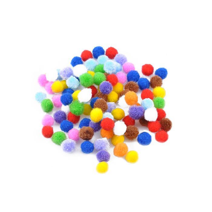 Pom Pom Ball Size 10mm Pack of 100
