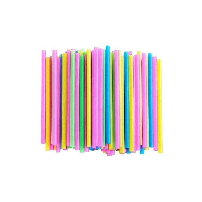 Straight Straw Coloured Pack of 100