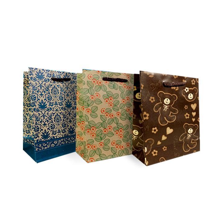 Paper Bags 15 x 20 x 7.5cm Pack of 6 Pcs