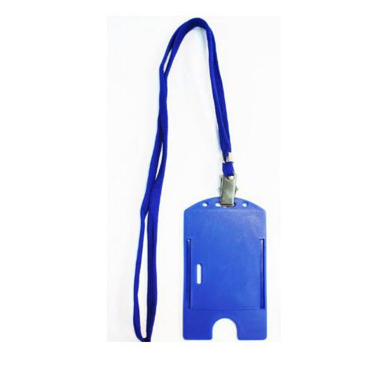 Lanyard with ID Cardholder Blue