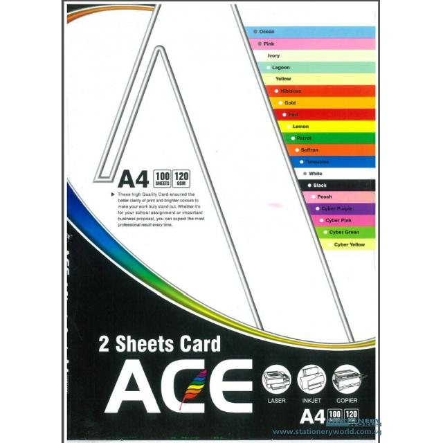 2 Sheet Cards A4 120gsm Pack of 100