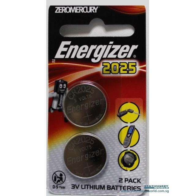 Energizer Battery CR2025 Pack of 2