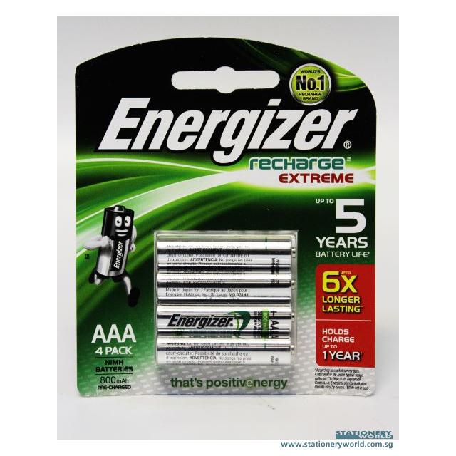 Energizer Rechargeable AAA Battery Pack of 4