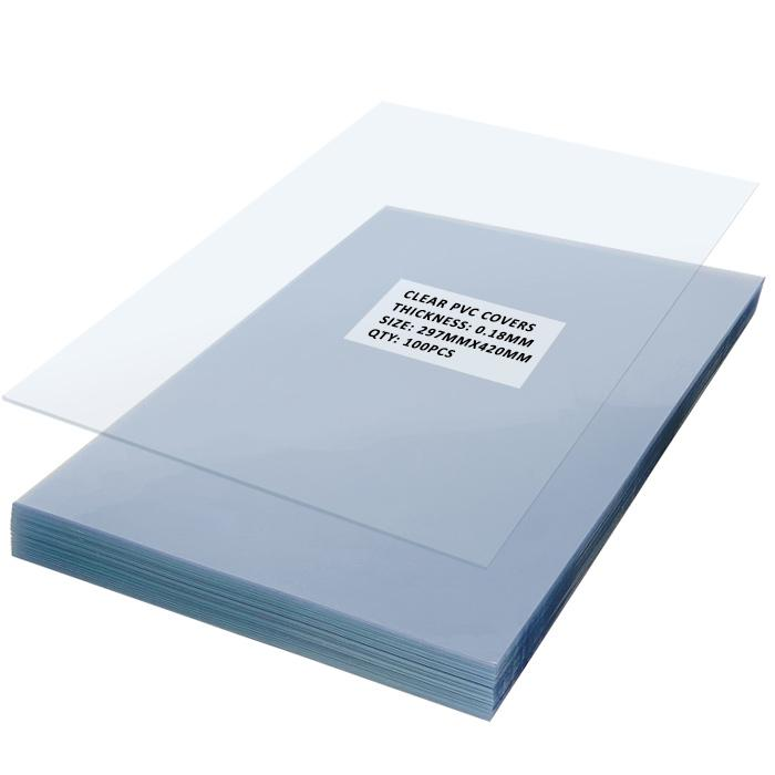 PVC Binding Sheets A3 0.18mm Pack of 100