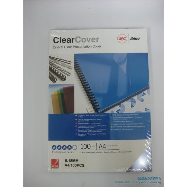 Ibico Clear Binding Covers A4 0.18mm Pack of 100