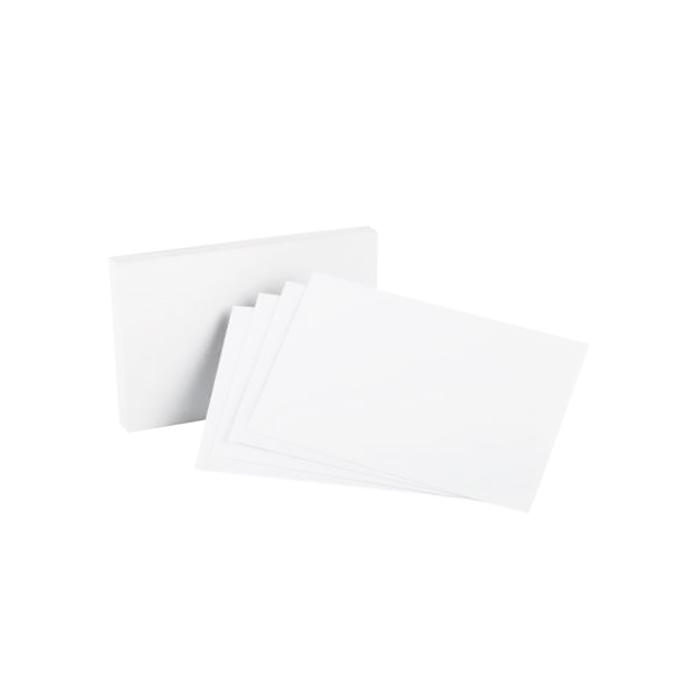 Blank Cards White 76 x 127mm Pack of 50
