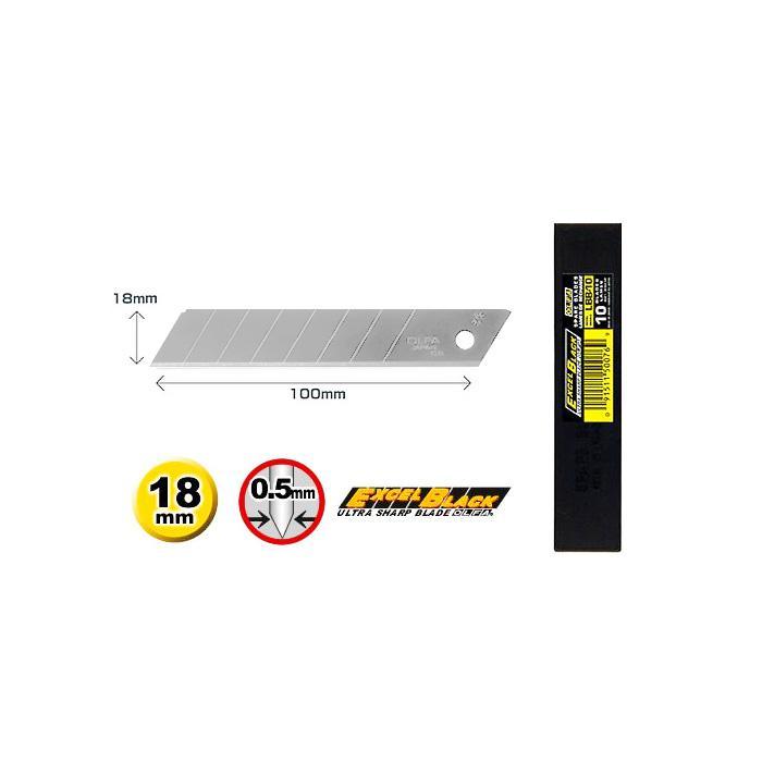 OLFA Black Blades 18mm Pack of 10 LBB-10