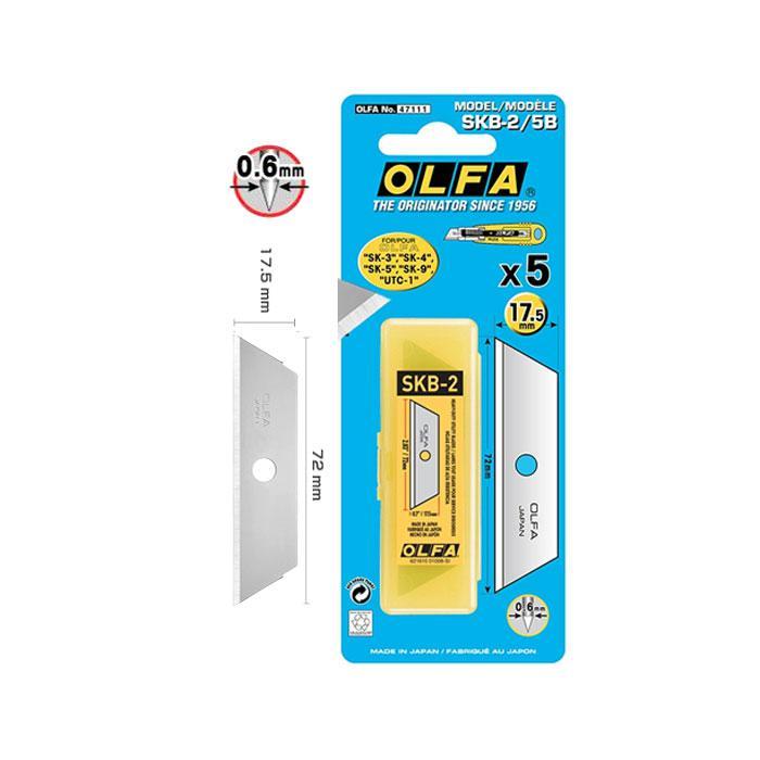 OLFA Blades 17.5mm Pack of 5 SKB-2/5B