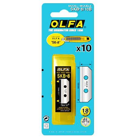 OLFA Blades 18mm Pack of 10 SKB-8/10B