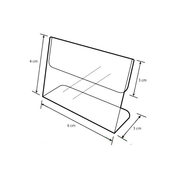 Acrylic L Shape Display 6cm A-LL-01