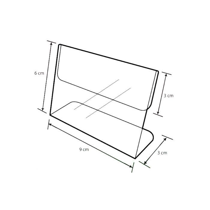 Acrylic L Shape Display 9cm A-LL-02