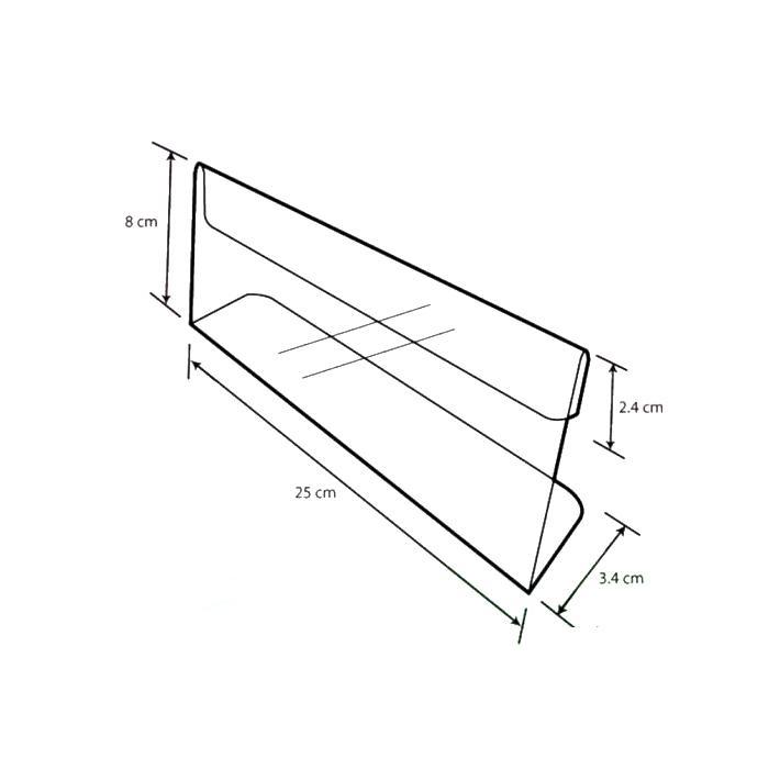 Acrylic L Shape Display 25cm A-LL-04