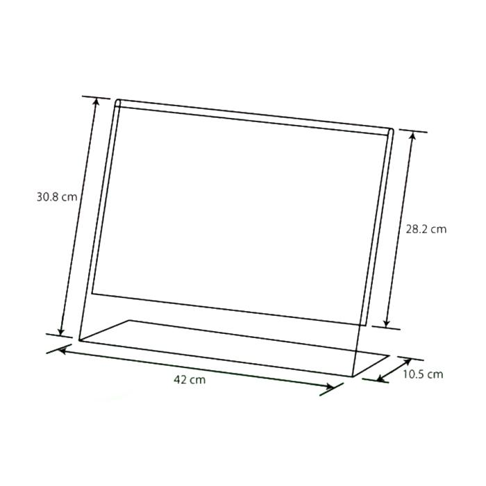 Acrylic L Shape Display A3 AA-LL-A3
