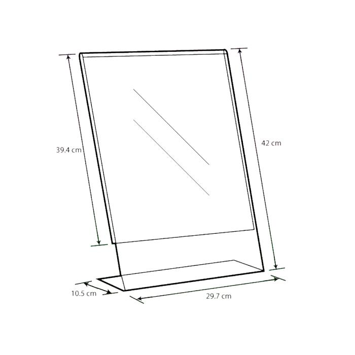 Acrylic L Shape Display A3 A-LP-A3