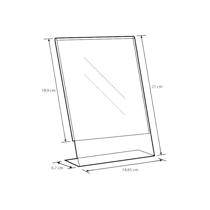 Acrylic L Shape Display A5 A-LP-A5
