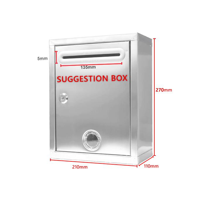 Stainless Steel Suggestion Box G1213
