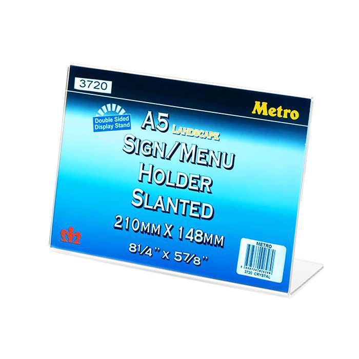 Metro L Shape Slanted Sign Menu Holder A5 Landscape 3720