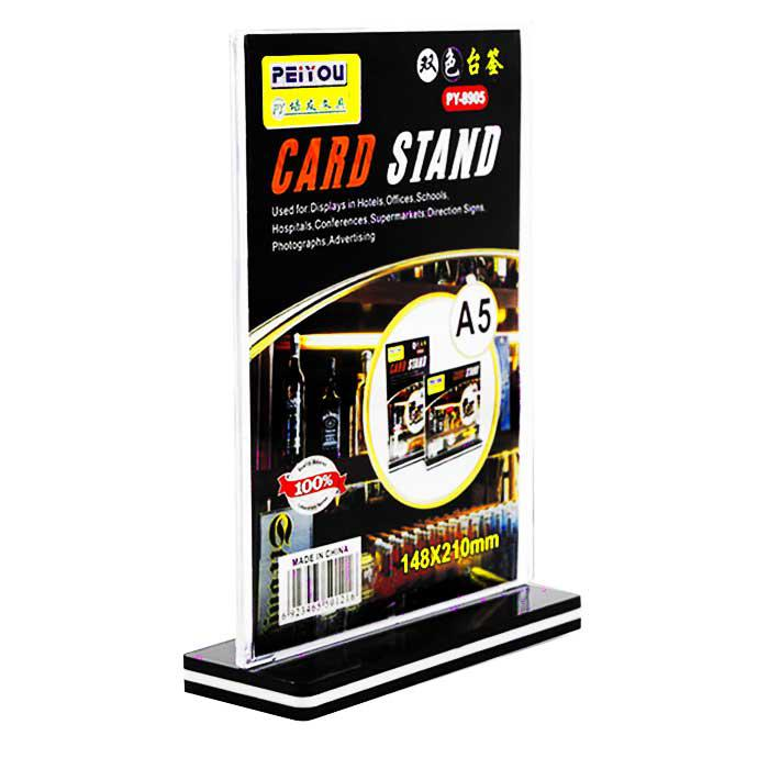 Double Sided Acrylic Card Stand A5 PY-8905