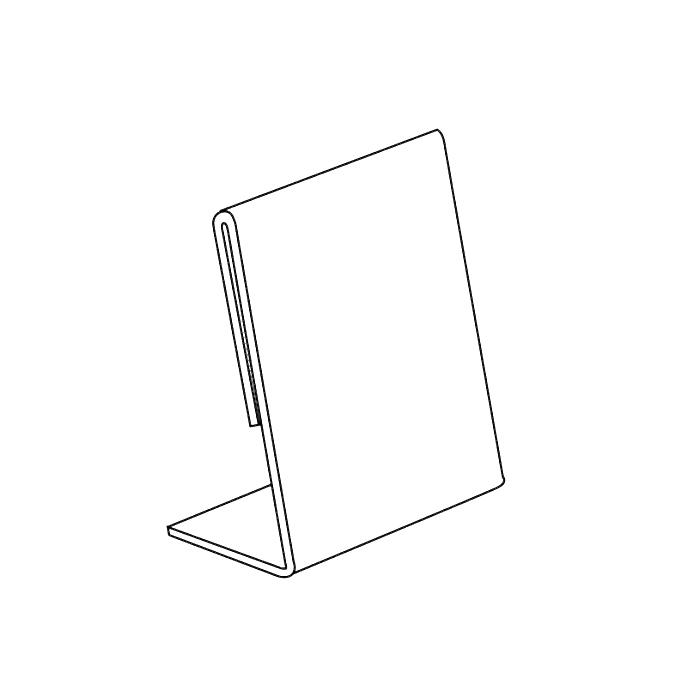 Suremark Acrylic Leaflet Holder A4 Vertical SQ-1341