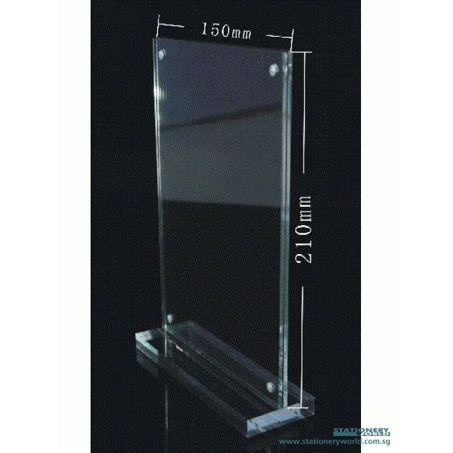 Double Sided T Shape Acrylic Stand T807