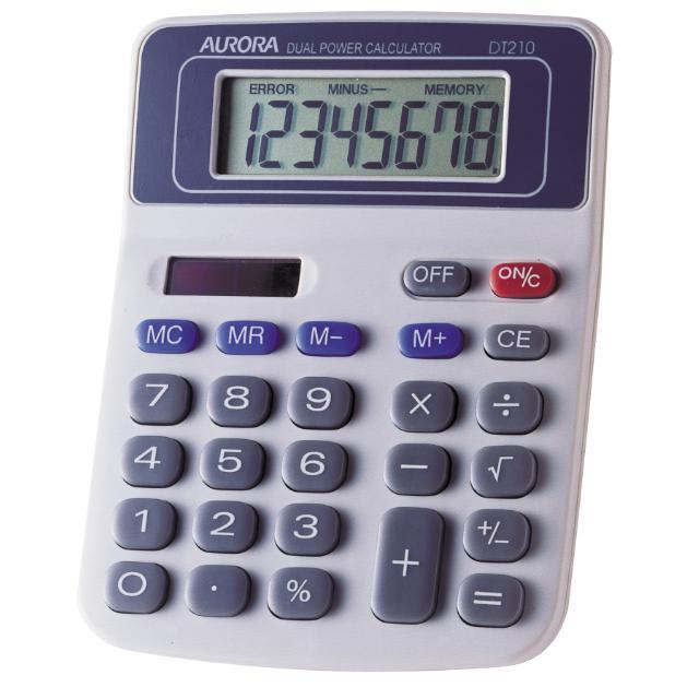 Aurora Calculator 8 Digits DT-210