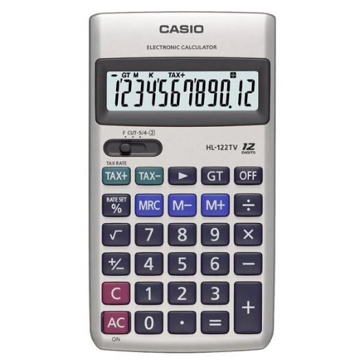 Casio Calculator 12 Digits HL-122TV
