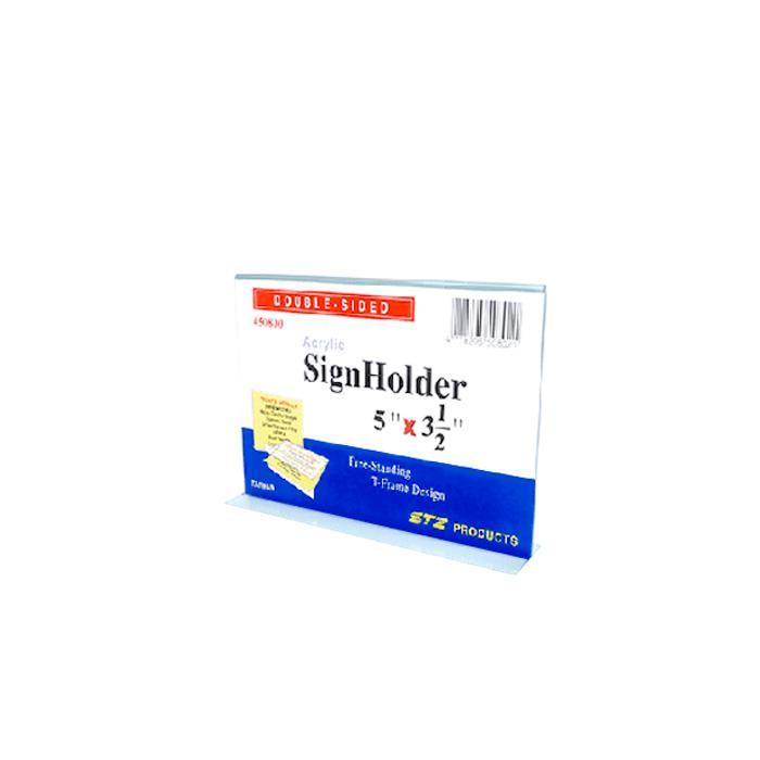 STZ Acrylic Sign Holder 5 x 3.5 Inch Horizontal 50800