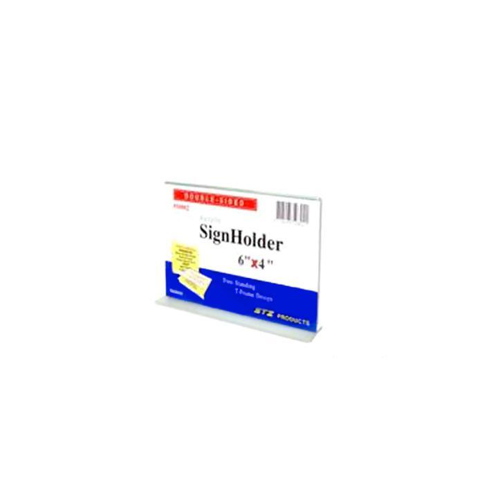 STZ Acrylic Sign Holder 6 x 4 Inch Horizontal 50802