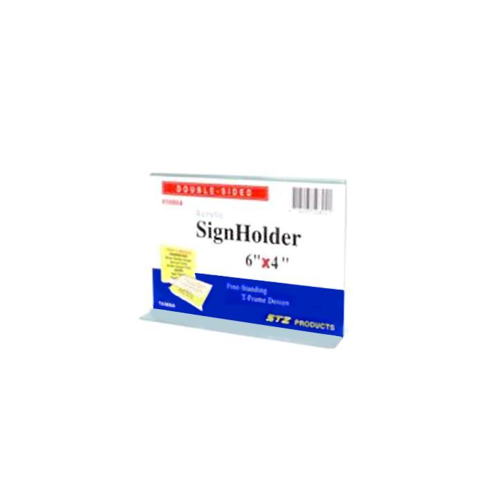 STZ Acrylic Sign Holder 7 x 5 Inch Horizontal STZ-50804