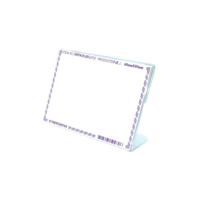 STZ Acrylic Card Stand 60 x 40mm 50976