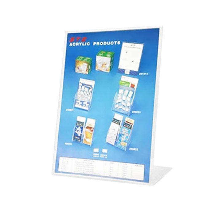 STZ L Shape Acrylic Sign Holder A5 Vertical 51012