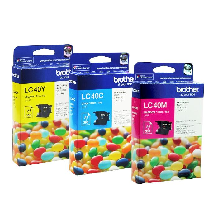 Brother Colour Ink Cartridge LC40-C/LC40-M/LC40-Y