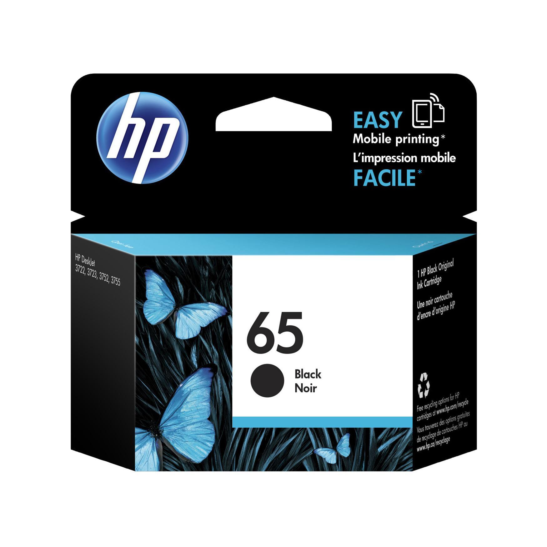 HP 65 Black Ink Cartridge N9K02AA