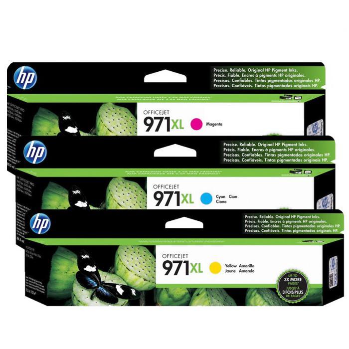 HP 971XL Ink Cartridge (CN626AA/CN627AA/CN628AA)