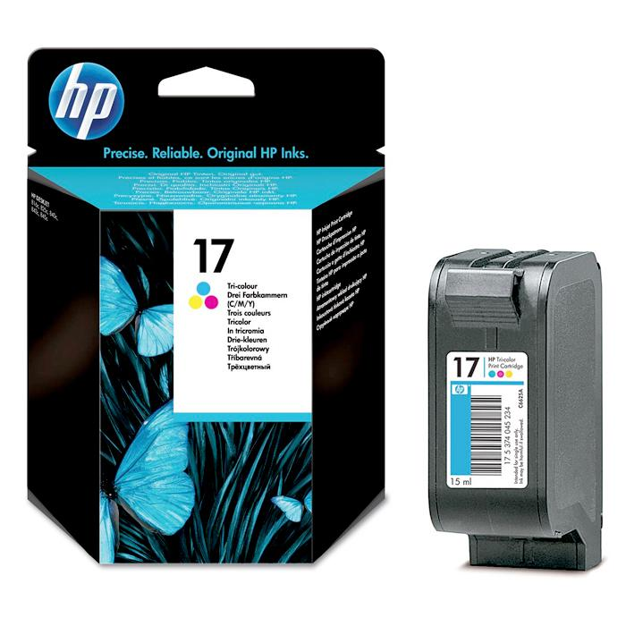 HP 17 Tricolour Ink Cartridge C6625A