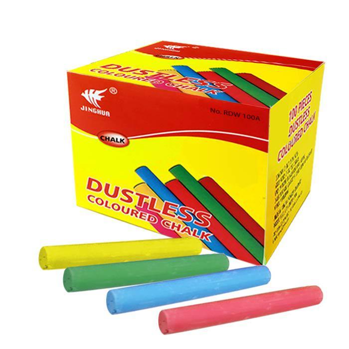 Dustless Chalk Colour 100 Pcs RDW 100A