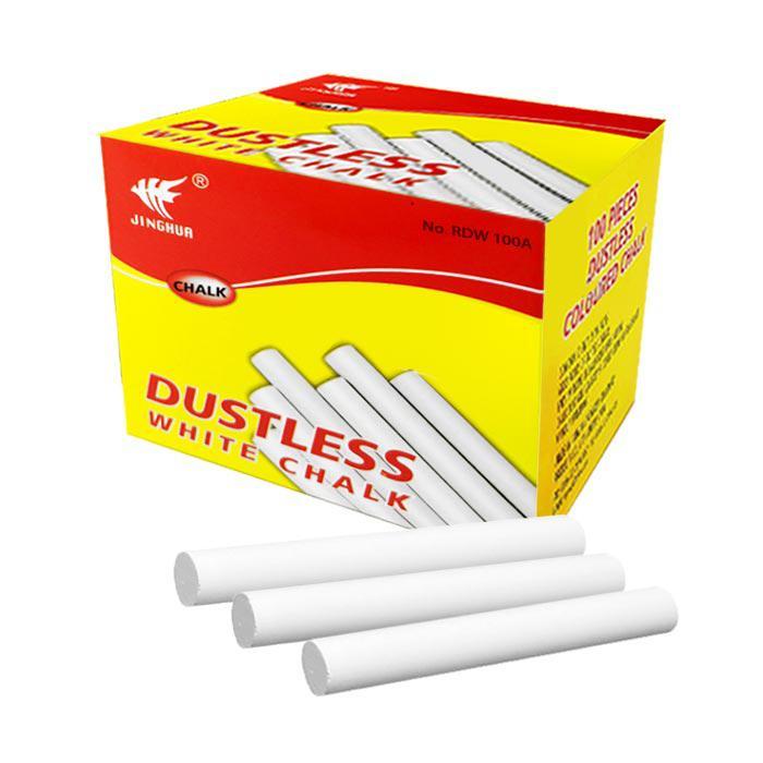 Dustless Chalk White 100 Pcs RDW 100A