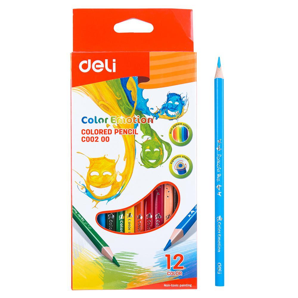 Deli 12 Colour Pencils EC00200