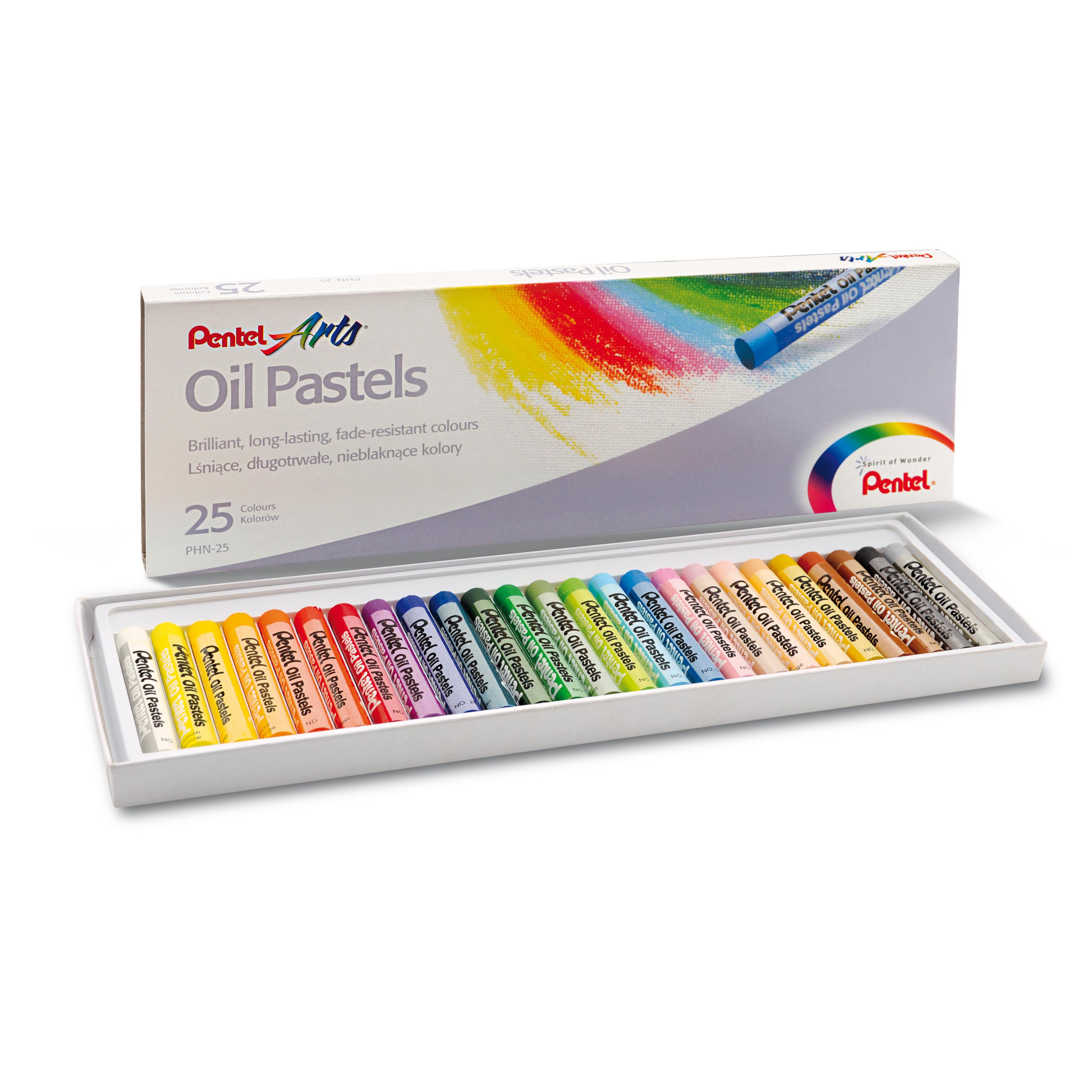 Pentel Oil Pastels 25 Colours PHN-25